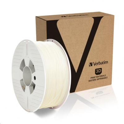VERBATIM 3D Printer Filament PLA 1.75mm, 335m, 1kg natural transparent (OLD PN 55274)