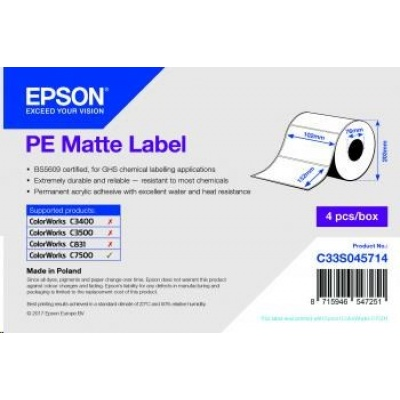 Epson label roll, synthetic, 102x152mm