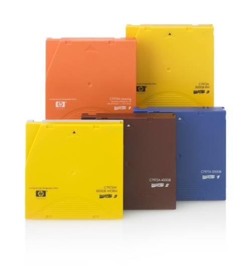 HP LTO-3 Ultrium 800GB RW Custom Label 20 Pack