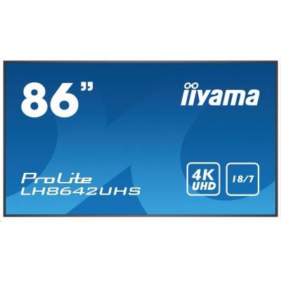 iiyama ProLite LH8642UHS-B1, 217.4 cm (85.6''), black