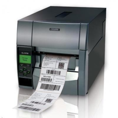 Citizen TT průmyslová tiskárna etiket CL-S703  LAN, USB, Serial, 300dpi
