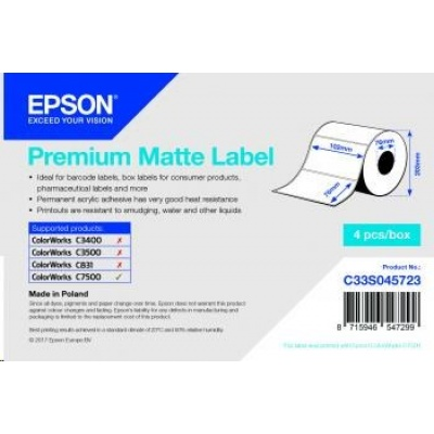 Epson label roll, normal paper, 102x76mm