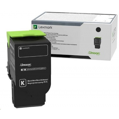 Lexmark černý Ultra high capacity toner C250U10 pro C2535dw, MC2535adwe a MC2640adwe - 8 000 str