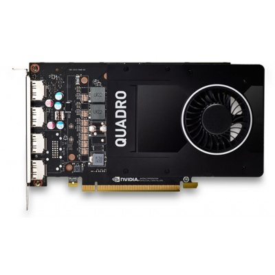 DEL Nvidia Quadro P2200, 5GB, DP 1.4 (4) - KIT