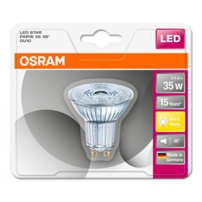 OSRAM LED STAR PAR16 36° 2,6W 827 GU10 230lm 2700K (CRI 80) 15000h A++ (Blistr 1ks)