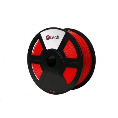 C-TECH Tisková struna (filament) PLA, 1,75mm, 1kg, červená