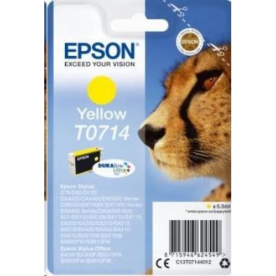 EPSON ink bar Singlepack Yellow T0714 DURABrite Ultra Ink (5,5 ml)