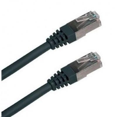 Patch kabel Cat5E, FTP - 0,5m, černý