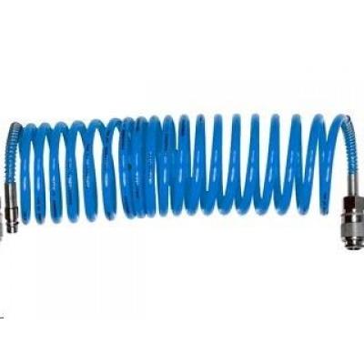 """Extol Premium hadice vzduchová spirálová PU s mosaznými rychlospojkami, 1/4"""", vnitřní Ř8mm, L 8m"""
