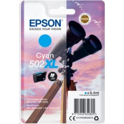 "EPSON ink bar Singlepack ""Dalekohled"" Cyan 502XL Ink"