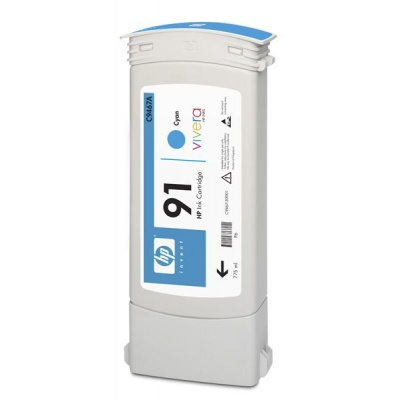 HP 91 Cyan DJ Ink Cart, 775 ml, C9467A