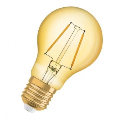 OSRAM Vintage 1906 LED CL A Filament GOLD 1,5W 824 E27 120lm 2400K (CRI 80) 15000h A++ (Krabička 1ks)
