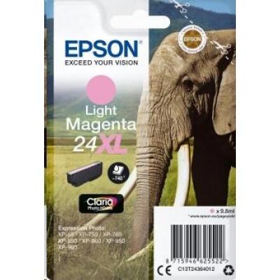 "EPSON ink bar Singlepack ""Slon"" Light Magenta 24XL Claria Photo HD Ink"