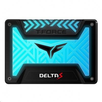 """T-FORCE SSD 2.5"""" 1TB Delta S RGB (12V), 3D NAND, Black"""