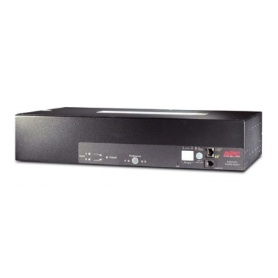 APC Rack ATS, 230V, 32A, IEC309 in, (16)C13 (2)C19 out, 2U, IEC 309 32A 2P+E (2.44m)