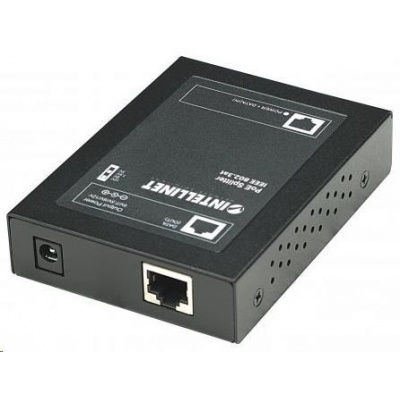 Intellinet 1-port PoE+ Power over Ethernet Splitter, 802.3at/af