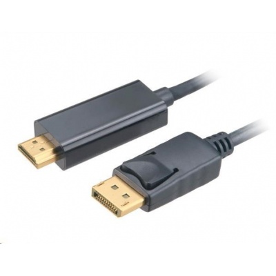 AKASA Adaptér 4K DisplayPort na HDMI active, kabel, 1.8m