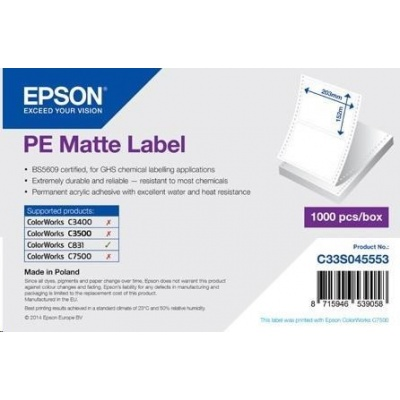 Epson labels, synthetic, 203x152mm