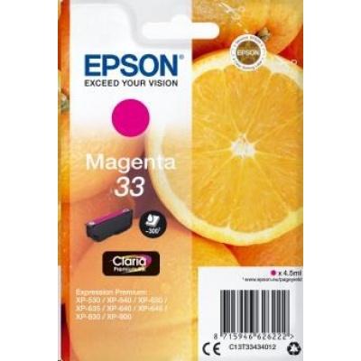 "EPSON ink bar Singlepack ""Pomeranč"" Magenta 33 Claria Premium Ink"
