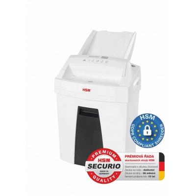HSM skartovač Securio AF100 (řez: Kombinovaný 4x25mm | vstup: 225mm | DIN: P-4 (3) | papír, sponky, plast. karty)