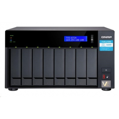 QNAP TVS-872N-i3-8G (4C/i3-8100T/3,1GHz/8GBRAM/8xSATA/2xGbE/1x5GbE/1xUSB3.0/4xUSB3.1/2xM.2/2xPCIe/1xHDMI)