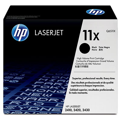 HP 11X Black LJ Toner Cart, 12 000 str, Q6511X