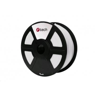 C-TECH Tisková struna (filament) PLA, 1,75mm, 1kg, bílá