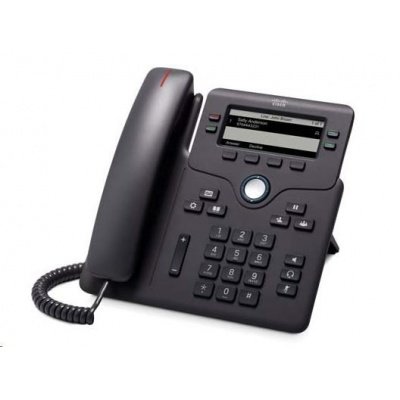Cisco CP-6851-3PCC-K9=, VoIP telefon, 4line, 2x10/100/1000, displej, PoE, MPP. bez adaptéru