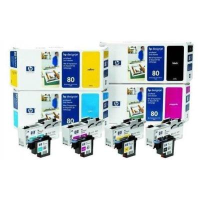 HP 80 Magenta Printhead + Printhead Cleaner, C4822A