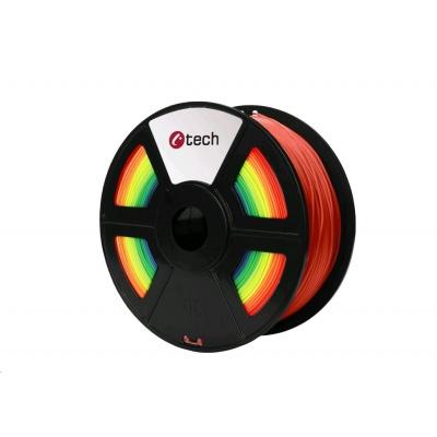 C-TECH Tisková struna (filament) PLA, 1,75mm, 1kg, duha