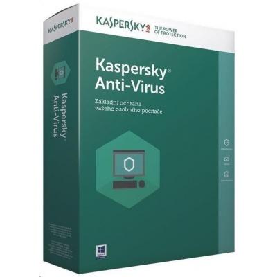 Kaspersky Anti-Virus CZ, 2PC, 1 rok, nová licence, elektronicky