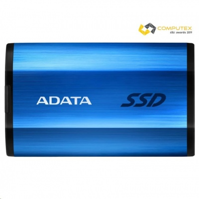 ADATA External SSD 512GB SE800 USB 3.2 Gen2 type C modrá