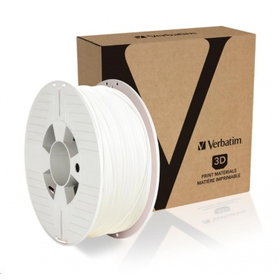VERBATIM 3D Printer Filament PLA 1.75mm, 335m, 1kg white (OLD PN 55268)
