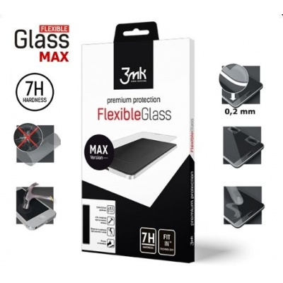 3mk hybridní sklo FlexibleGlass Max pro Apple iPhone 6 Plus, 6S Plus, černá
