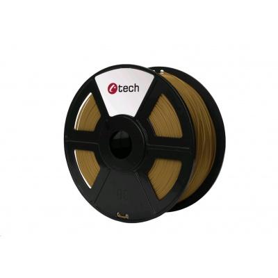 C-TECH Tisková struna (filament) PLA, 1,75mm, 1kg, hnědá