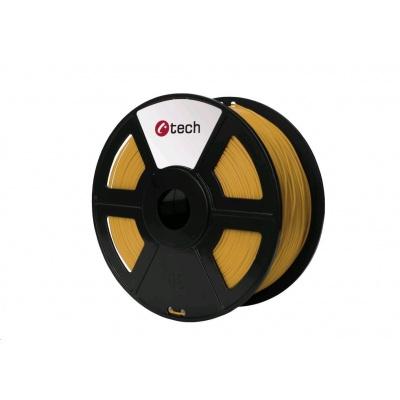 C-TECH Tisková struna (filament) PLA, 1,75mm, 1kg, zlatá