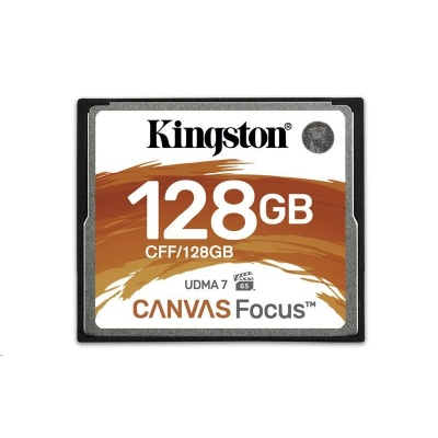 Kingston 128GB CompactFlash Canvas Focus up to 150R/130W