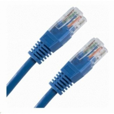 Patch kabel Cat5E, UTP - 3m, modrý