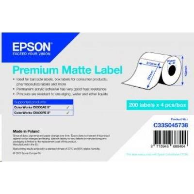 Epson label roll, normal paper, 210x297mm