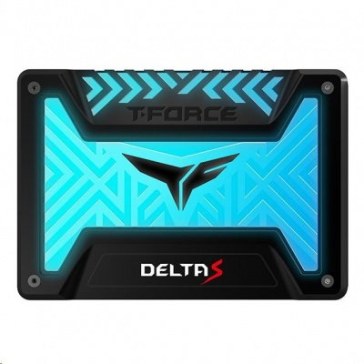 """T-FORCE SSD 2.5"""" 500GB Delta S RGB (12V), 3D NAND, Black"""