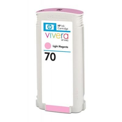HP 70 Light Magenta DJ Ink Cart, 130 ml, C9455A
