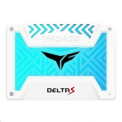 """T-FORCE SSD 2.5"""" 250GB Delta S RGB (12V), 3D NAND, White"""