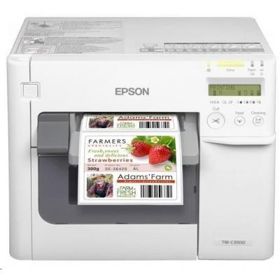 Epson ColorWorks C3500, cutter, disp., USB, Ethernet, NiceLabel, white