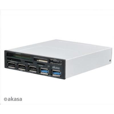 AKASA  čtečka AK-ICR-16, 5ti slotová, s podporou SDXC, 3x USB2.0 +2x USB3.0 port, interní